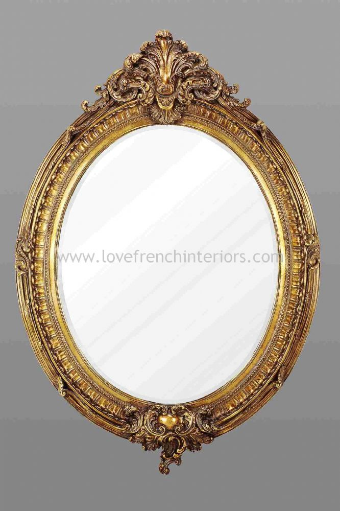 Gold Oval French Mirror